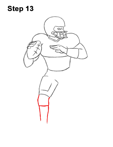 How To Draw A Football Player Quarterback Video Step By Step Pictures