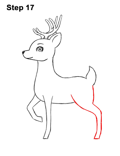 How To Draw A Deer Cartoon Video Step By Step Pictures