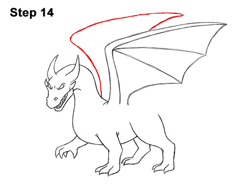 How To Draw A Dragon Cartoon