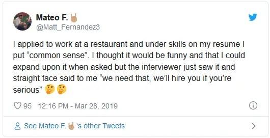 funniest resume skills 1