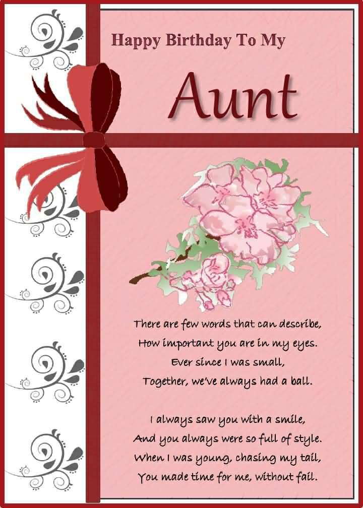 Happy Birthday Aunt Poems