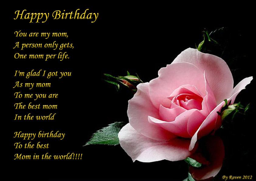 Happy Birthday Mom Poems