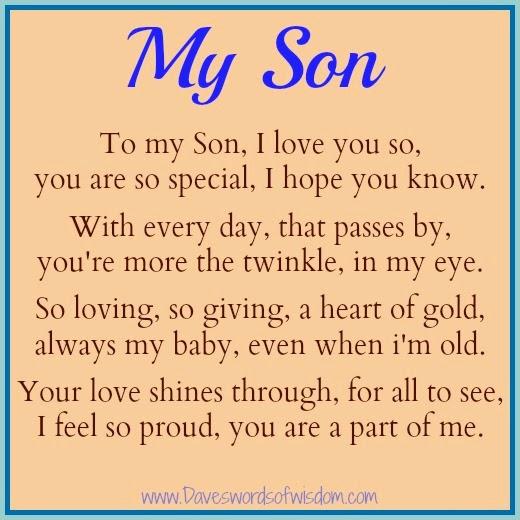 Happy Birthday To My Son Poems