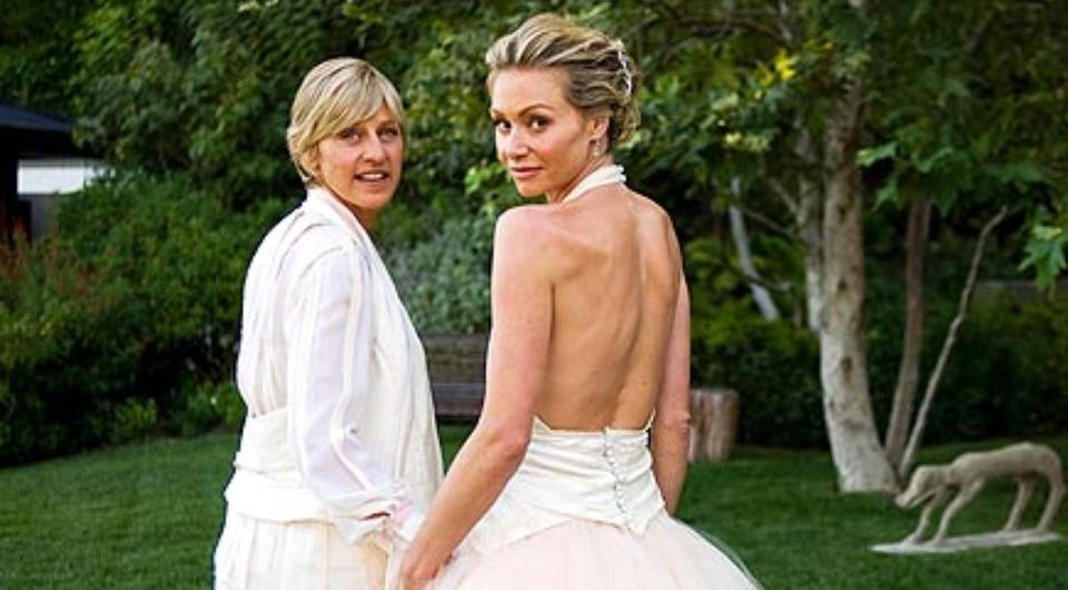 Portia De Rossi And Ellen DeGeneres Celebrate 10 Year