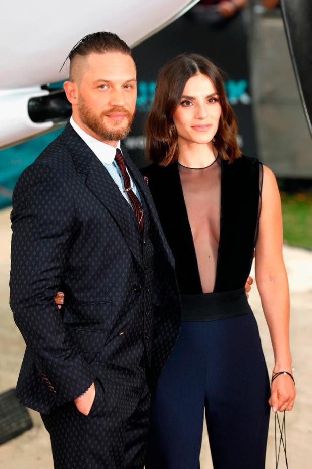Tom Hardy and Charlotte Riley arrive at the 'Dunkirk' World Premiere at Odeon Leicester Square on July 13, 2017 in London, England. (Photo by Tristan Fewings/Getty Images)