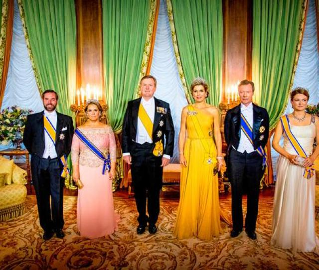 L R Hereditary Grand Duke Guillaume Of Luxembourg Grand Duchess Maria Teresa Of Luxembourg