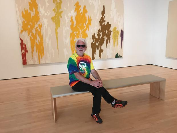 Picture this... John wearing 'that' T-shirt at the Museum of Modern Art in San Francisco