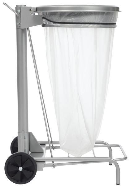 support a pedale en acier pour sac poubelle 50l
