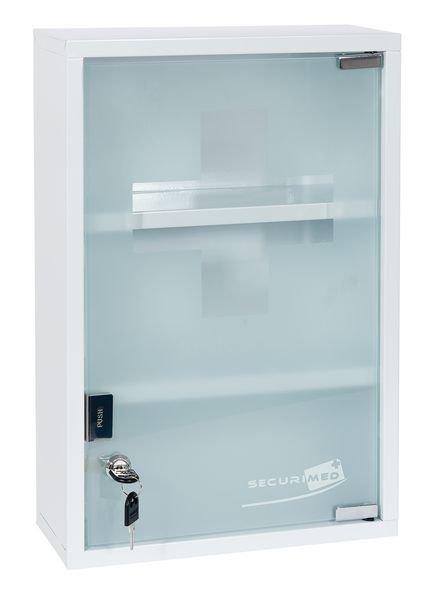 armoire a pharmacie metal 1 porte vitree vide