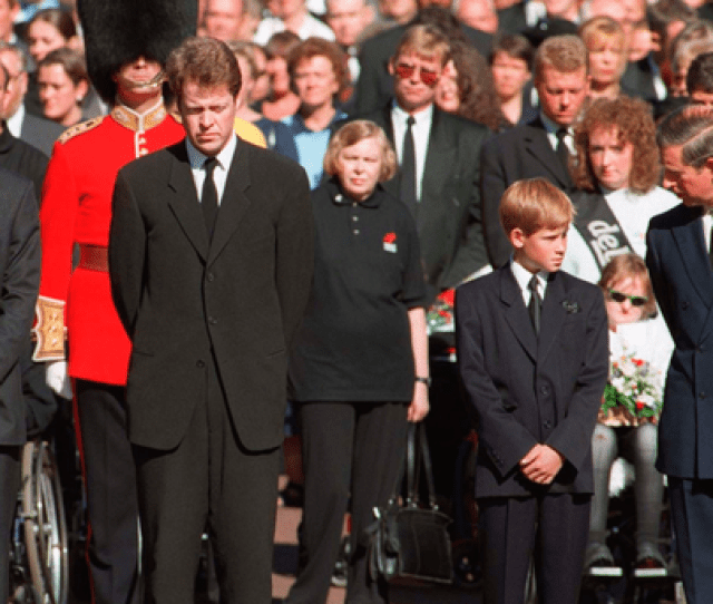 Sad Day Prince Charles With His Sons Prince Harry And Prince William With