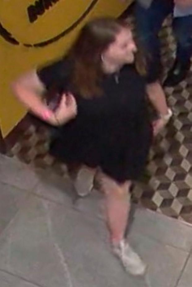 CCTV image issued by Auckland City Police of Briton Grace Millane, 22, at the Sky City centre in Auckland on Saturday evening. Photo: Auckland City Police/PA Wire.