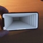 This remarkable optical illusion app turns the iPhone X into a 3D     Peder s app in action   algomystic Twitter