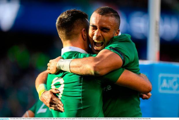 Image result for ireland vs new zealand zebo try