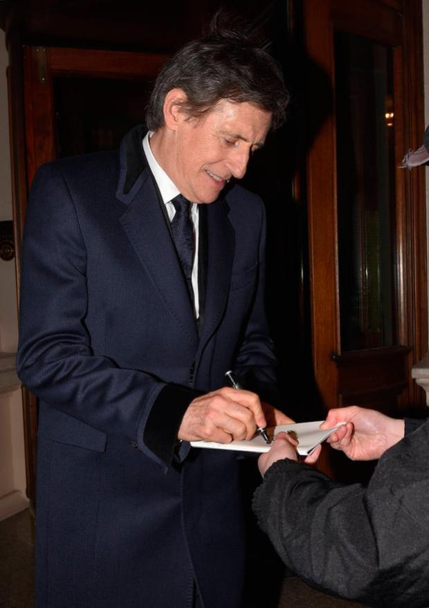Gabriel Byrne leaves the Shelbourne Hotel to attend The 2018 IFTA Film & Drama Awards