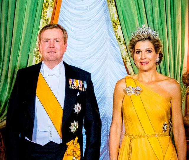 King Willem Alexander Of The Netherlands And Queen Maxima Of The Netherlands During The Official