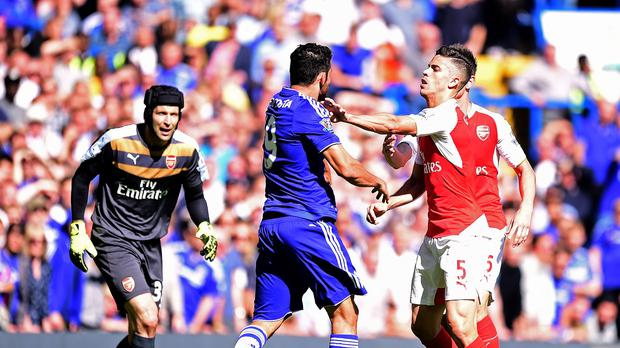 Image result for diego costa spat against arsenal