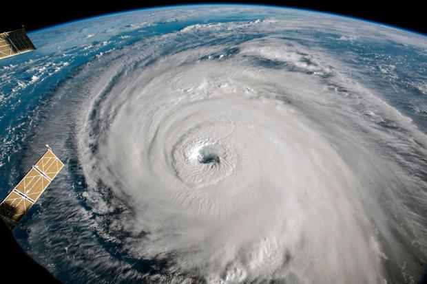Eye of the storm: An image taken from aboard the International Space Station shows Hurricane Florence approaching the east coast of the US States. Photo: Getty Images
