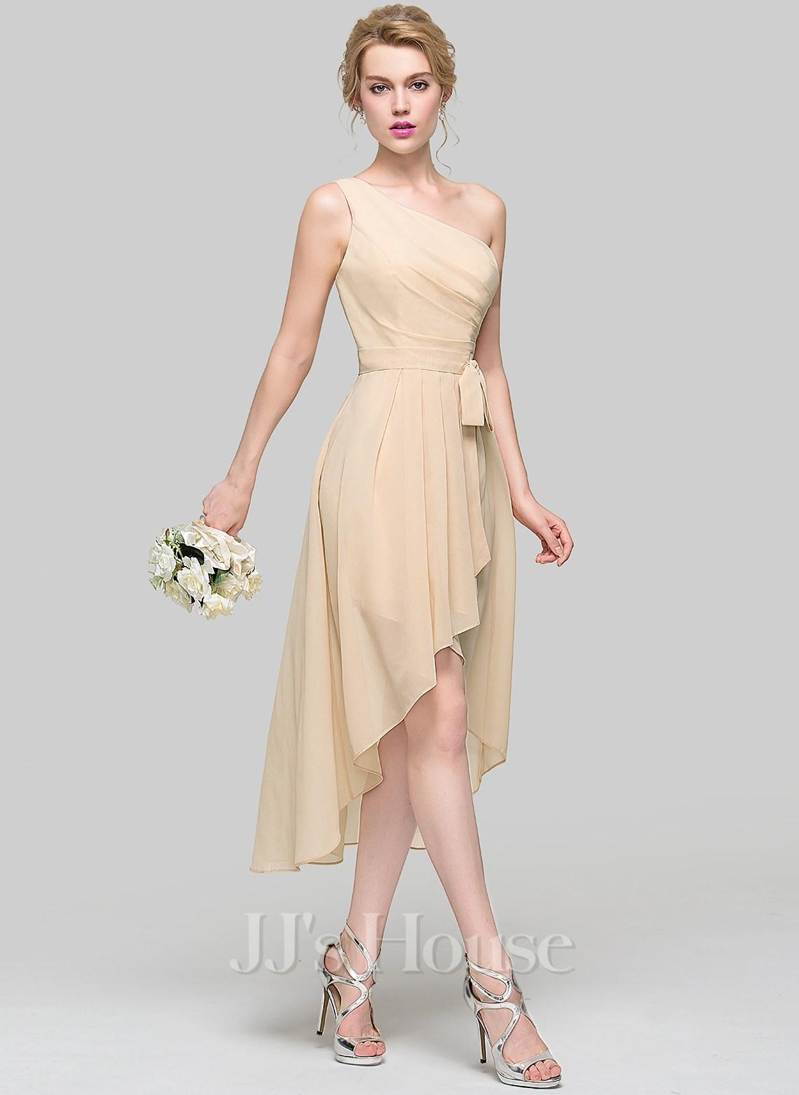 Bow White Knee Dress Length