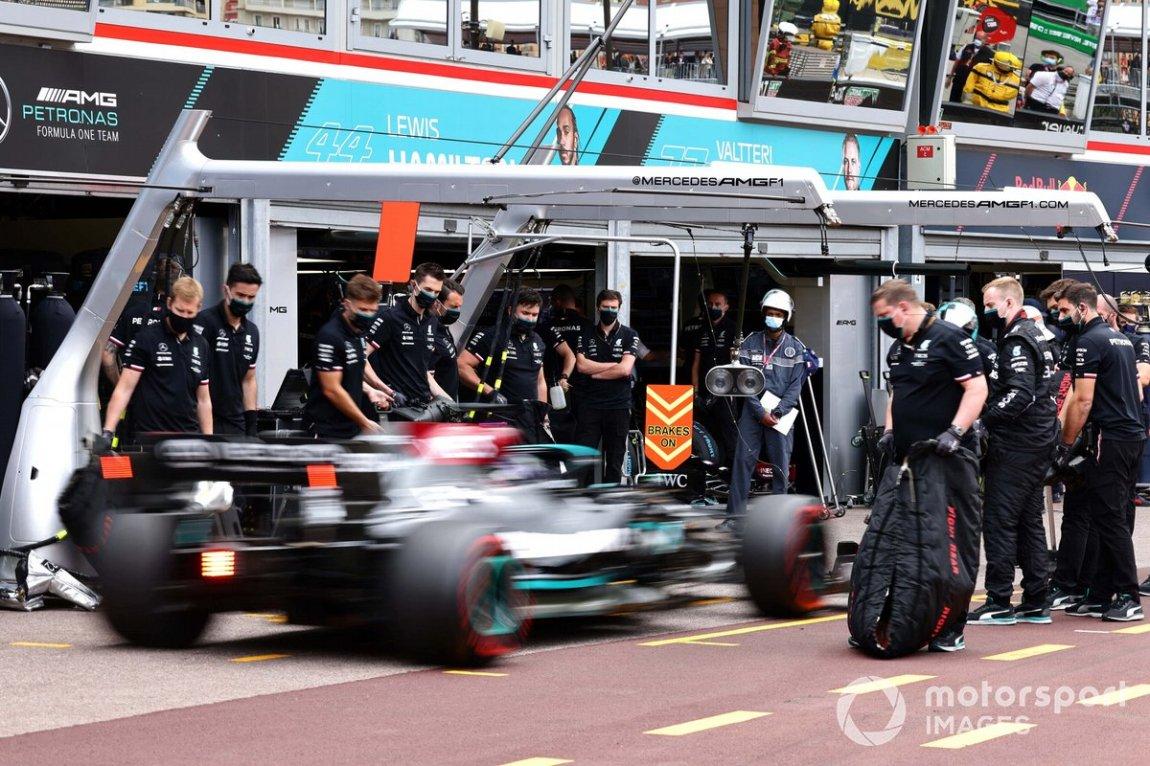 Lewis Hamilton, Mercedes W12, after qualifying