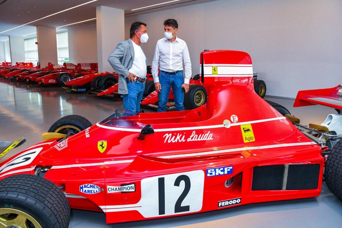 Renè Arnoux and Giancarlo Fisichella