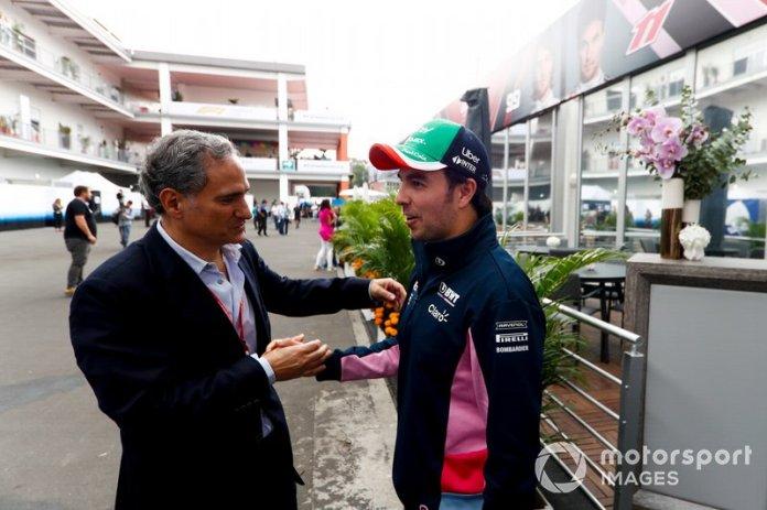 Alejandro Soberón Kuri, CEO del Grupo CIE con Sergio Pérez, Racing Point