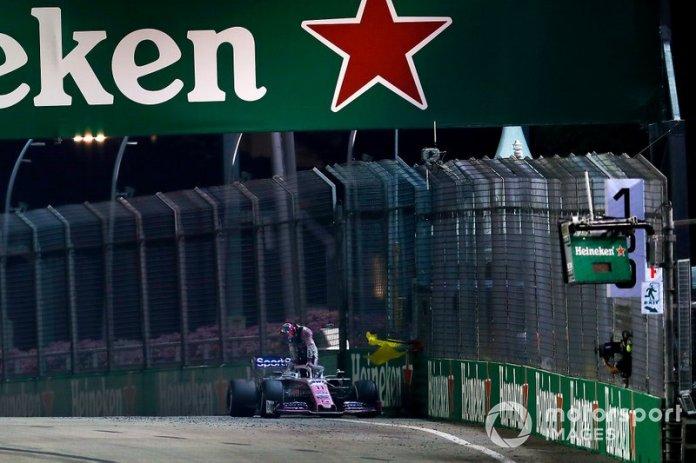 Sergio Pérez, Racing Point RP19 se retira de la carrera
