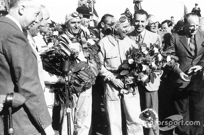 Ganador de la carrera Giuseppe Farina, Alfa Romeo