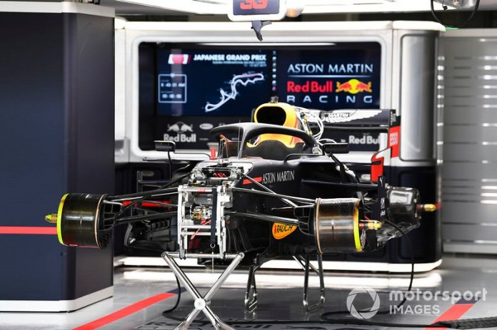 Suspensión delantera del Red Bull Racing RB15