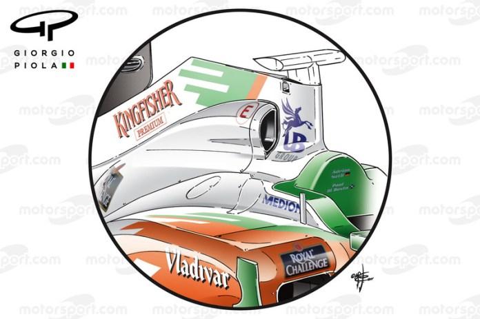 Entrada de aire del Force India VJM04