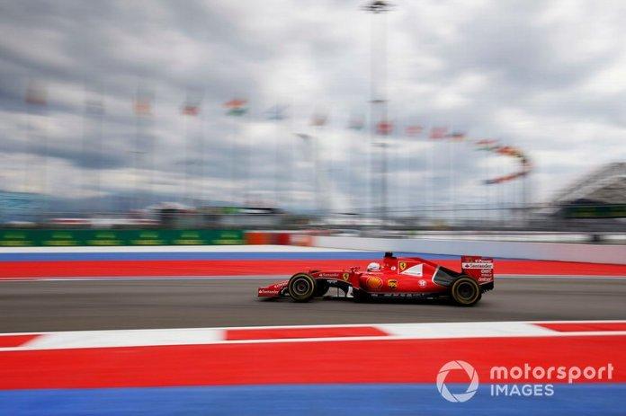 Rusia 2015: primera vuelta rápida en carrera con Ferrari.