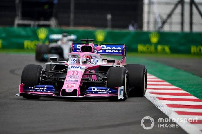Sergio Pérez, Racing Point RP19, Lewis Hamilton, Mercedes AMG F1 W10