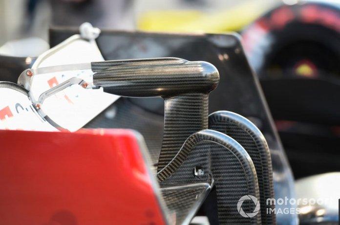 Detalle del alerón trasero Alfa Romeo Racing C38