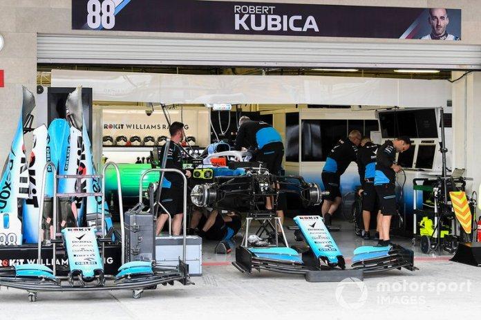 Suspensión delantera de Williams FW42