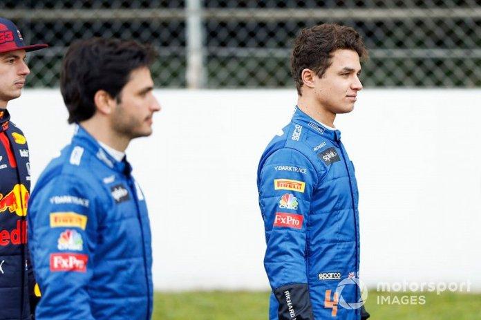 Lando Norris, McLaren y Carlos Sainz, McLaren