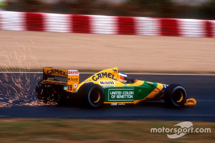 1992: el casco de la primera victoria de Schumacher en F1