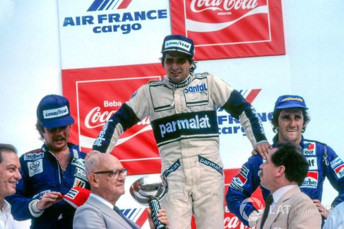 Piquet podría haber estado al frente del marcador brasileño si no hubiera sido descalificado de la edición de 1982. El tres veces campeón del mundo fue primero, pero fueron descalificados por tener el auto más liviano de lo permitido. Prost heredó la victoria después de que Keke Rosberg también la hubiera ganado y fuera sancionado.