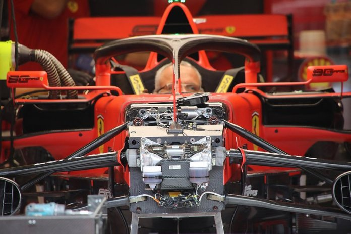 The front of the Ferrari SF90