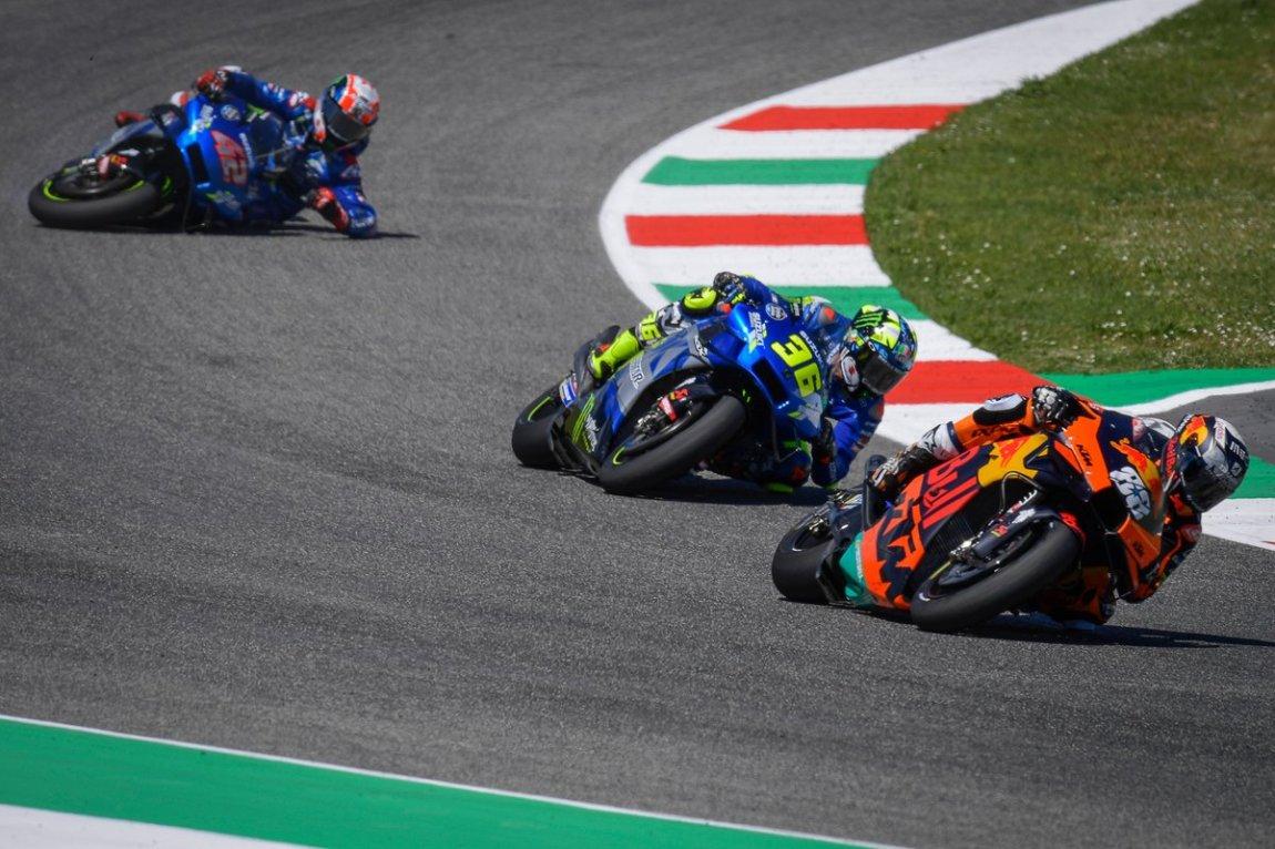 Miguel Oliveira, Red Bull KTM Factory Racing, Joan Mir, Team Suzuki MotoGP, Alex Rins, Team Suzuki MotoGP crash