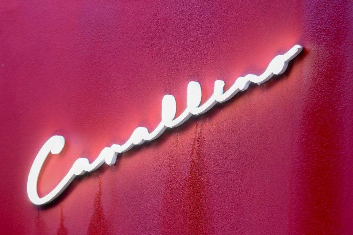 The sign of the Il Cavallino restaurant