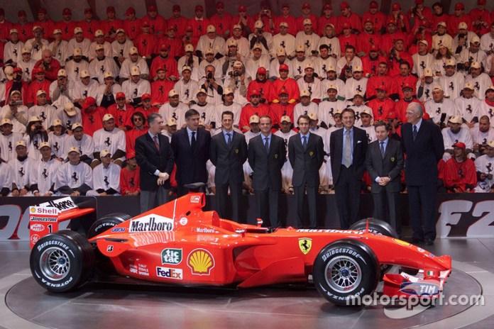 Presentación de la Ferrari F2001 de 2001