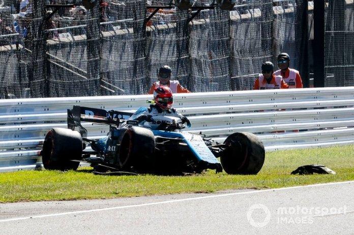 Robert Kubica, Williams FW42 choque