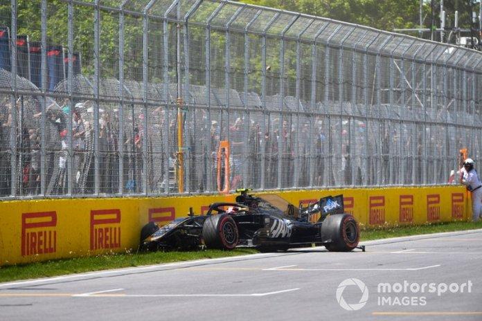 Choque de Kevin Magnussen, Haas F1 Team VF-19