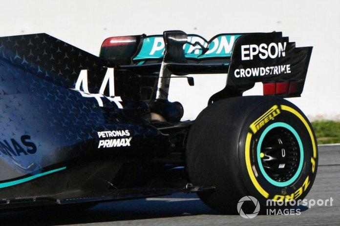 Ala trasera del Mercedes AMG F1 W11