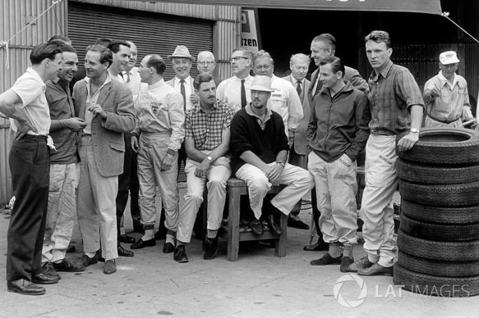 Jim Clark, John Cooper, Innes Ireland, Jack Brabham, Stirling Moss, Graham Hill, Jo Bonnier, Bruce McLaren