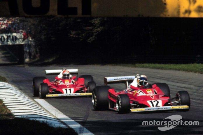 11: Niki Lauda y Carlos Reutemann (Ferrari)