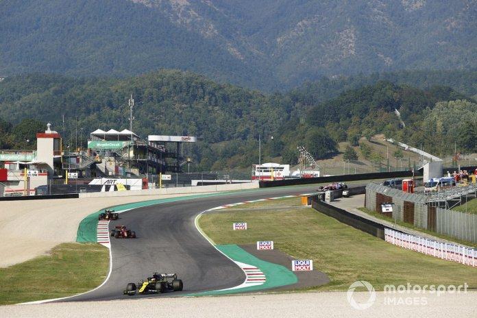 Daniel Ricciardo, Renault F1 Team R.S.20, Charles Leclerc, Ferrari SF1000, Alex Albon, Red Bull Racing RB16