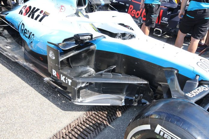 Detalle de los sidepods Williams FW42