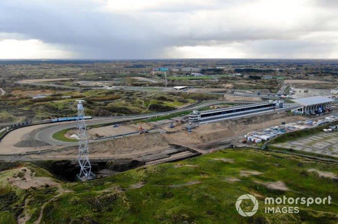 Trabajos en el circuito de Zandvoort