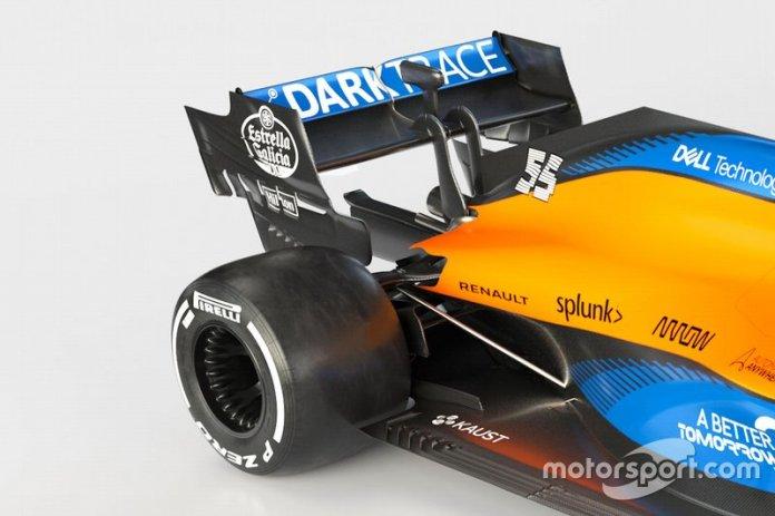 McLaren MCL35, detalle de la parte trasera