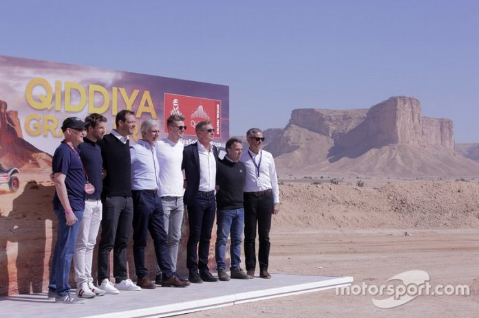 Presentación del Qiddiya Grand Prix con Nico Hülkenberg, Alexander Wurz, Romain Grosjean, Damon Hill, David Coulthard, Loris Capirossi